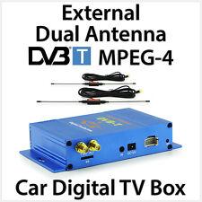 External Dual Antenna DVB-T MPEG-4 Digital TV Box Car Head Unit Stereo Player MK
