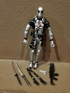 marvel legends deadpool from unreleased 3 pack silver deadpool rare vhtf