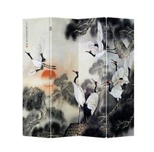 Habitación Divisor grúas Rising Sun Pantalla Plegable 4 panel Oriental Lona Impresa