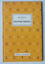 MINIATURES INDIENNES - ORBIS PICTUS 6 - E GRADMANN - PAYOT - 1950  *