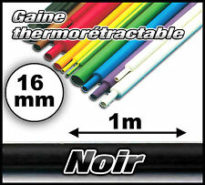 GN16-1# gaine thermorétractable noir 16mm 1m  gaine thermo noir
