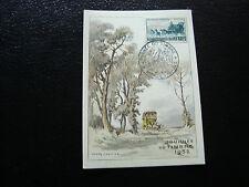FRANCE - carte 8/3/1952 journee du timbre aix-les-bains  (cy10) (E)