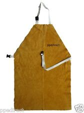 Gold Leather Welders Apron with Buckle & Strap