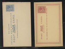 New  Zealand   2  one penny  postal cards  unsued              MS0320