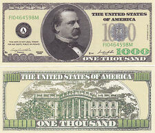 Two Casino Style $1,000 Cleveland Novelty Money Bills #223