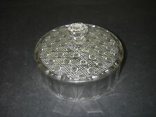 EAPG Pattern U.S. Glass No 9525 Lacy Daisy Clear Butter Dish Lid 1918