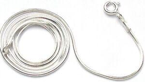 SCHLANGENKETTE 925 Silber Kette sechskantig 41 cm 1,1mm flexibel top Qualität