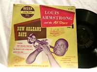 """LOUIS ARMSTRONG New Orleans Days V 1 Earl Hines 10"""" LP"""