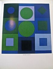 Victor Vasarely Alphabet VB OPTICAL Geometrical Poster 14x11 Offset Lithograph