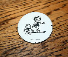 Rare Vintage Kfs Betty Boop & Baby Comic Collectible Button Pin 1970s New Nos