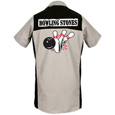 Bowling Stones Printed on Garren Bowling Shirt lounge bar ROLLING STONES ROCK