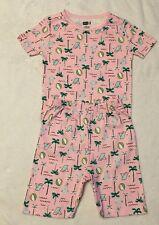 NWT Sz 7 Years Crazy 8 Pink BEACH BALL PARTY S/S SHORTIE  2pc Pajamas PJ's