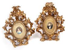 Pair of framed miniatures; nineteenth century.
