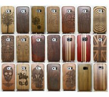 Genuine Handmade Wood Bamboo Case Back Cover for Samsung Galaxy S9 S8 S7 Note 5