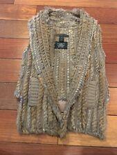 Marc By Marc Jacobs Brown Rabbit Fur Vest O/S