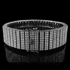 18K Black Gold Bling Out ICED MICROPAVE Set Simulated Diamond Gunmetal Bracelet