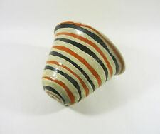 "GORKA LIVIA, RETRO WALL CACHEPOT WITH STRIPES 7.8"", 1950'S ART POTTERY !"