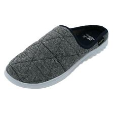 New Dearfoams Men's Heathered Knit Quilted Clog Slipper
