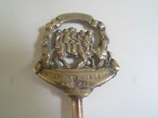Vintage Brass Toasting Fork Depicts : Widdecombe Uncle Tom Cobleigh And All