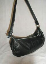 Suzy Smith Black Shoulder Bag Genuine Leather Size Medium