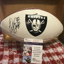 WARREN SAPP OAKLAND RAIDERS LOGO FOOTBALL JSA P49545