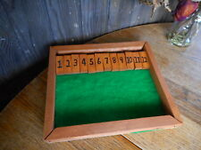 Shut The Box Game Wooden Wood Coffee Table Game hand made pre owned