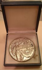 ROCHESTER NY STERLING SILVER CIVIC MEDAL 3 INCH IN ORIGINAL BOX