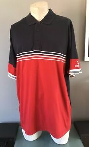 Lyle& Scott Tour mens red And Navy polo shirt Size XL Pit To Pit 25 Inches