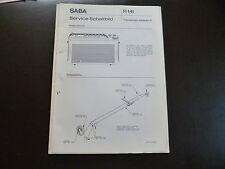 Original Service Manual SABA  Transeuropa  automatic K
