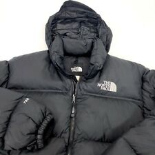 The North Face Nuptse 700 Down Fill Black Puffer Hooded Ski Jacket Men's Size XL