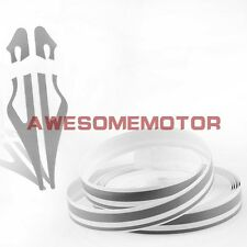 "Car Motorcycle 0.3""*385"" Double Pin Stripe Gray Tape Vinyl Decals Stickers AM"