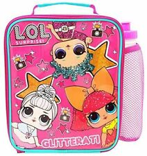 LOL Suprise Lunch Bag and Bottle Combo, 600D Polyester Pink, one size