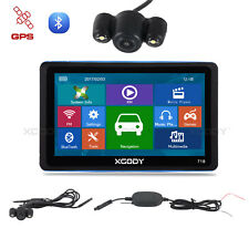 "XGODY 7"" GPS Navigation SAT NAV Bluetooth AU Maps with Wireless Reversing Camera"