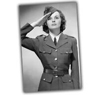 American girl military sexy Girl in uniform Nice Woman War Photo WW2 4x6 T