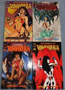 """4 """"Vengeance of Vampirella"""" Comic Books By Harris Comics! Here's #s 3,5,6 & 7!"""