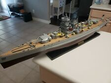 "WWII German battleship Graf Spee Wooden Ship Model 40"" long awesome detail"