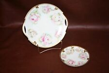 Imperial Austrian Fine China Dish & Plate Set - Hand Painted Signed by C. Dupuy