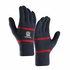 Men Women Warm Winter Gloves Wool Lined knitted Thermal Touch Screen Outdoor