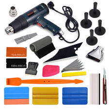 Auto Car Wrap Squeegee Vinyl Tools Heat Gun Magnets Window Tint Application Kit
