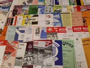 BARNET AWAY PROGRAMMES SEASONS  1986/87 - 1989/90