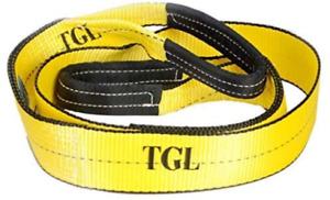 TGL 3 inch 8 Foot Tree Saver Winch Strap Tow Strap 30000 Pound Capacity