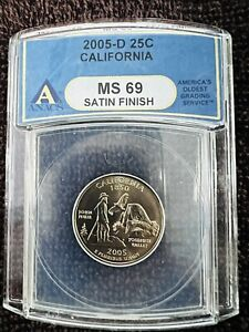 2005-D California State Quarter ANACS SP69 Satin Finish First Strike D Mint Only