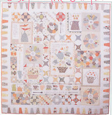 Gossip in the Garden - BOM applique & pieced quilt PATTERN - Hatched & Patched
