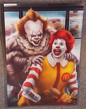 IT Pennywise vs Ronald McDonald Glossy Art Print 11 x 17 In Hard Plastic Sleeve