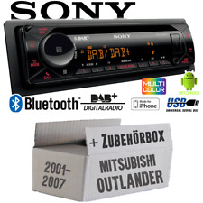 Autoradio Sony Bluetooth | DAB+ | CD/MP3/USB Einbauset für Mitsubishi Outlander
