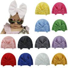 Newborn Baby Girl Infant Bowknot Hat Elastic Beanie Headband Knitted Turban Cap