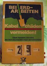 Ancien Calendrier Perpétuel Beierd -Arbeiten ,Kabel ChädenVermeiden! Vintage