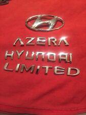 2006 HYUNDAI AZERA LIMITED REAR TRUNK EMBLEMS LOGO DECAL CHROME (591)