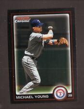 Michael Young--2010 Bowman Chrome Baseball Card--Texas Rangers