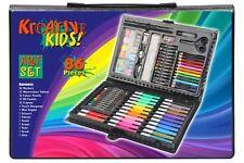 Nuevo 86 Pc Conjunto de Arte para niños Lápices de Colores Pinturas Plumas Lápices para los niños en caso de color